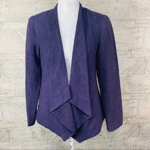 Investments Waterfall Purple Faux Suede cardigan